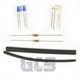 White & Blue Flood Lighting Kit