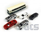 Assorted Automobiles & Bus, 6 Pack, N Scale