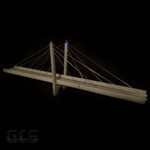 "30"" N-Scale Two Lane Suspension Bridge for Kato - CS30DNK"