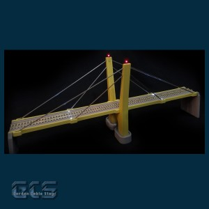 CS Series N Scale Deck-End Anchorage Piers, 1 Pair