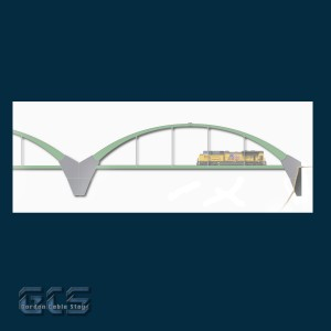 "15"" N Scale Two Lane Arch Bridge, AR15D"